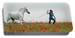 At The Poppies' Field... 2 Portable Battery Charger by Dubi Roman
