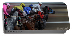 At The Racetrack 1 Portable Battery Charger
