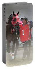 At The Racetrack 8 Portable Battery Charger