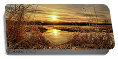 At The Rivers Edge Portable Battery Charger by Bonfire Photography