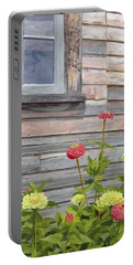 Portable Battery Charger featuring the painting At The Shelburne by Lynne Reichhart