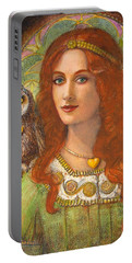 Athena And Her Owl- Wise Ones Portable Battery Charger