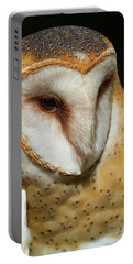 Portable Battery Charger featuring the photograph Athena The Barn Owl by Arthur Dodd