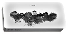 Athens Black And White Skyline Portable Battery Charger