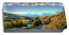 Atherton View Of Tetons Portable Battery Charger by Charlotte Schafer