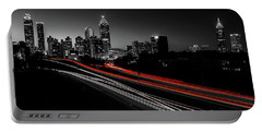 Atlanta Black And White Portable Battery Charger