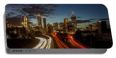 Portable Battery Charger featuring the photograph Atlanta Downtown Infusion Atlanta Sunset Cityscapes Art by Reid Callaway