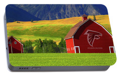 Portable Battery Charger featuring the photograph Atlanta Falcons Barn by Movie Poster Prints