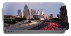 Atlanta Georgia Rush Hour Traffic Dusk Downtown City Skyline Portable Battery Charger
