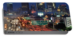 Atlanta Heavy Traffic Portable Battery Charger by Frozen in Time Fine Art Photography