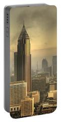 Atlanta Skyline At Dusk Portable Battery Charger
