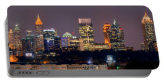Atlanta Skyline At Night Downtown Midtown Color Panorama Portable Battery Charger