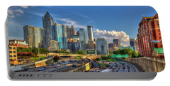 Portable Battery Charger featuring the photograph Atlanta The Capital Of The South Cityscapes Sunset Reflections Art by Reid Callaway