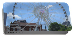 Portable Battery Charger featuring the photograph Atlanta Wheel by Aaron Martens