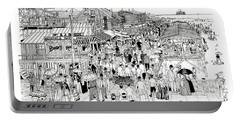 Atlantic City Boardwalk 1889 Portable Battery Charger by Ira Shander
