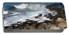 Atlantic Ocean, Rockport, Massachusetts Portable Battery Charger by Patricia E Sundik