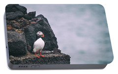 Atlantic Puffin Portable Battery Charger by Happy Home Artistry