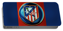 Atletico Madrid Painting Portable Battery Charger