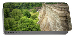 Portable Battery Charger featuring the photograph Atop The Croton Dam by Kristia Adams