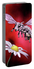 Attack Of The Silver Bee Portable Battery Charger
