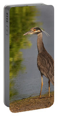 Portable Battery Charger featuring the photograph Attentive Heron by Jean Noren