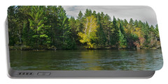 Au Sable River 9804 Portable Battery Charger by Michael Peychich
