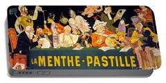 Au Tribunal De La Haye La Menthe Pastille Vintage Portable Battery Charger