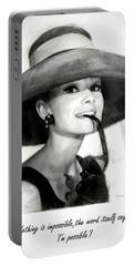 Audrey Hepburn 2 Portable Battery Charger