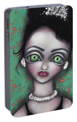 Audrey Hepburn Portable Battery Charger by Abril Andrade Griffith