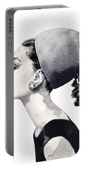 Audrey Hepburn For Vogue 1964 Couture Portable Battery Charger