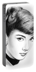 Audrey Hepburn Portable Battery Charger by Greg Joens
