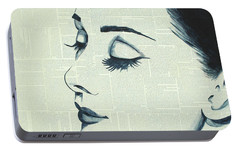 Audrey Hepburn Portable Battery Charger by Monikas Art