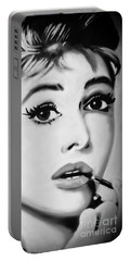 Audrey Hepburn Mural  Portable Battery Charger