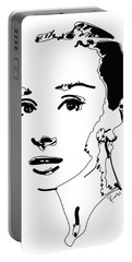 Audrey Hepburn Portable Battery Charger by Rabi Khan