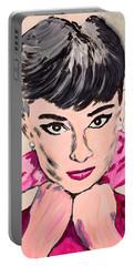 Audrey Hepburn Portable Battery Charger