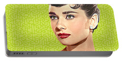 Audrey Hepburn_popart06-3 Portable Battery Charger