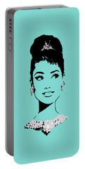 Audrey In Tiffany Blue Portable Battery Charger
