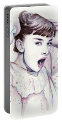 Audrey - Purple Scream Portable Battery Charger