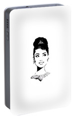 Audrey Portable Battery Charger by Rene Flores