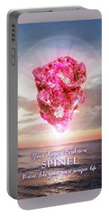 August Birthstone Spinel Portable Battery Charger
