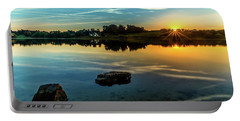 Portable Battery Charger featuring the photograph August Sunset by Nick Bywater