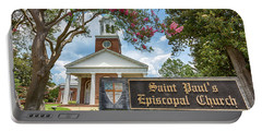 Augusta - Saint Paul's Episcopal  Portable Battery Charger by Stephen Stookey