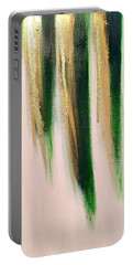 Portable Battery Charger featuring the painting Aurelian Emerald by Alisha Anglin