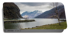 Portable Battery Charger featuring the photograph Aurlandsfjorden by Suzanne Luft