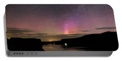 Portable Battery Charger featuring the photograph Aurora At Lake Billy Chinook by Cat Connor