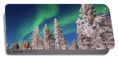 Portable Battery Charger featuring the photograph Aurora Borealis by Delphimages Photo Creations