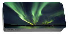 Aurora Borealis Over Tjeldsundet Portable Battery Charger