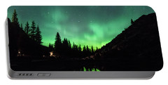Aurora On Moraine Lake Portable Battery Charger
