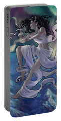Portable Battery Charger featuring the digital art Aurora Weaver by Amyla Silverflame