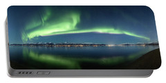 Auroras Over Langoya Island Portable Battery Charger